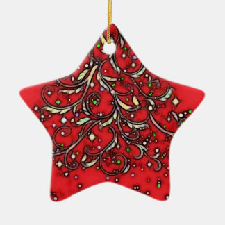 Jeweled Star! Ceramic Ornament