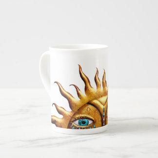 Jeweled Sun, Bone China Mug