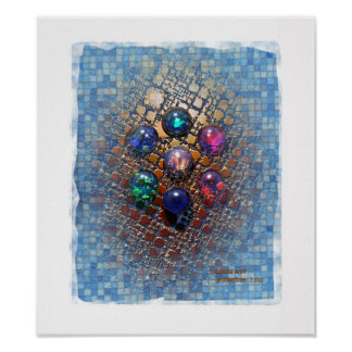 Jeweled Tiles (0001) Poster