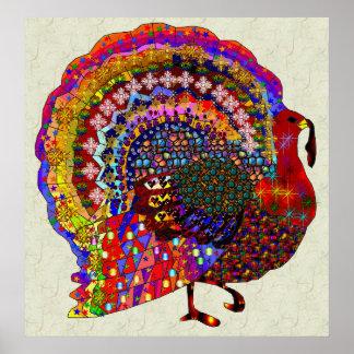Jeweled Turkey Poster