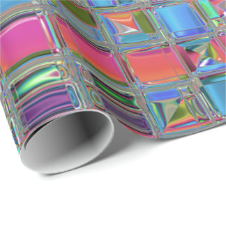 Jewelee Modern Mosaic Art Wrapping Paper