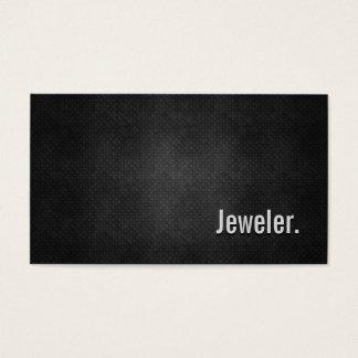 Jeweler Cool Black Metal Simplicity Business Card