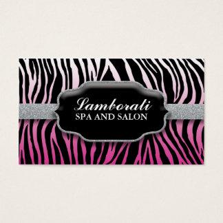 Jeweler Jewelry Zebra Print Diamond Pink Business Card