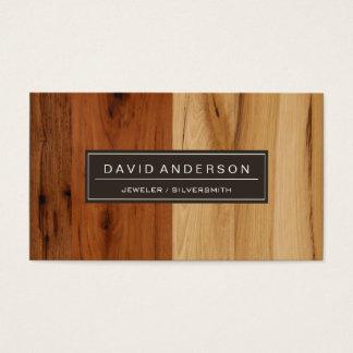 Jeweler / Silversmith - Wood Grain Look Business Card