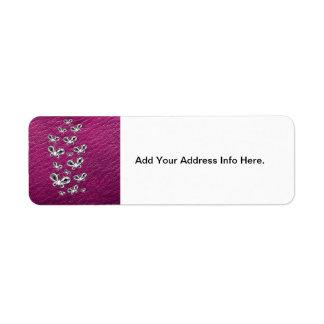 Jewell Butterflies Custom Return Address Label