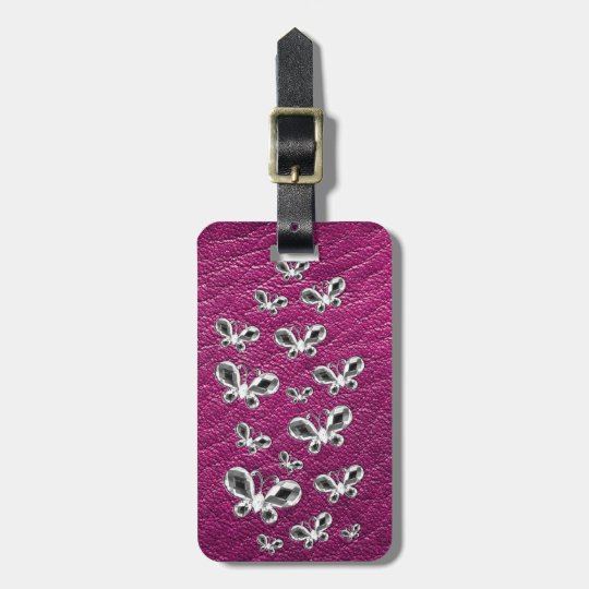 Jewell Butterflies Luggage Tag
