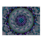 Jewelled Celtic Fractal Mandala Postcard