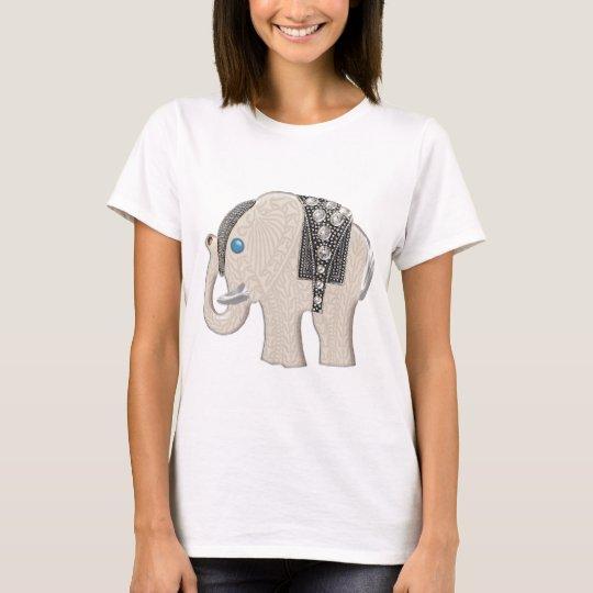 Jewelled Ornament Elephant T-Shirt