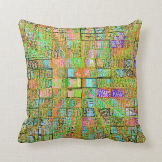 Jewelled Squares No. 2 Pillow