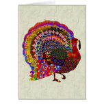Jewelled Turkey Greeting Card