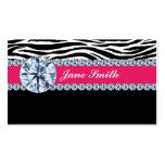 Jeweller Jewellery Zebra Print Diamond Sparkle Business Card Templates