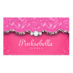 Jewellery Business Card Leopard Lace Pink
