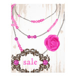 Jewellery Flyer Rose Necklace Brown Pink