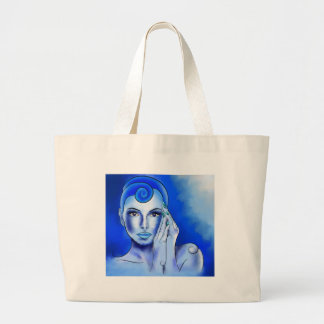 Jewellisina V1 - blue treasure Large Tote Bag
