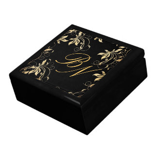 Jewelry Box - Golden Elegance Monogram