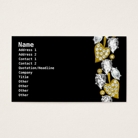JEWELRY BUSINESS CARD - Black