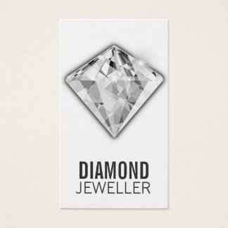 Jewelry Business Cards Diamond Platinum