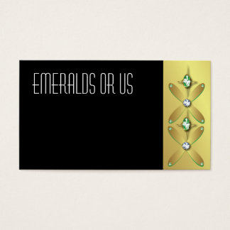 Jewelry Business Cards Emeralds