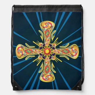 Jewelry cross drawstring bag
