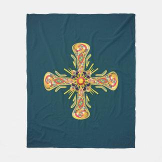 Jewelry cross fleece blanket
