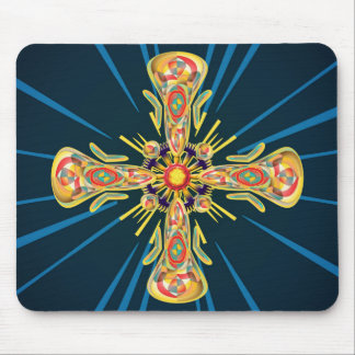 Jewelry cross mouse pad