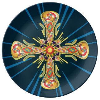 Jewelry cross plate