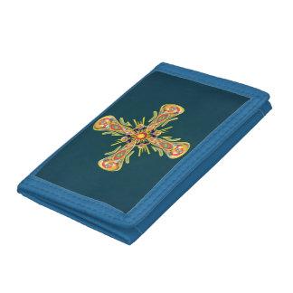 Jewelry cross tri-fold wallets