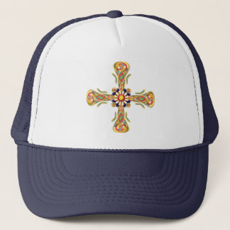 Jewelry cross trucker hat