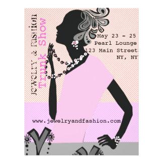 Jewelry Fashion Trunk Show Beauty Model Custom Flyer