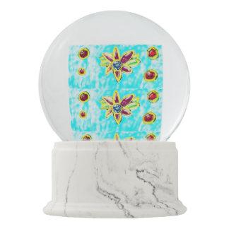 Jewelry flower snow globe