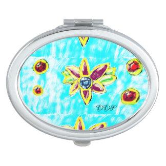 Jewelry flower vanity mirror