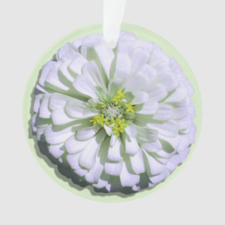 Jewelry - Pendant - Lemony White Zinnia
