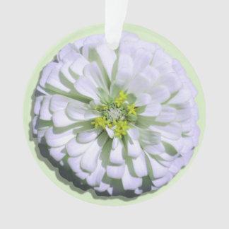 Jewelry - Pendant - Lemony White Zinnia Ornament