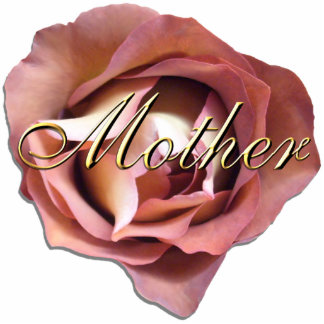 """Jewelry - Pin - Dusky Rose """"Mother"""" Photo Sculpture Button"""