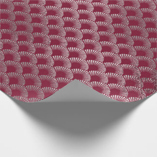 Jewelry Scales Maroon Burgundy Silver Vip Wrapping Paper