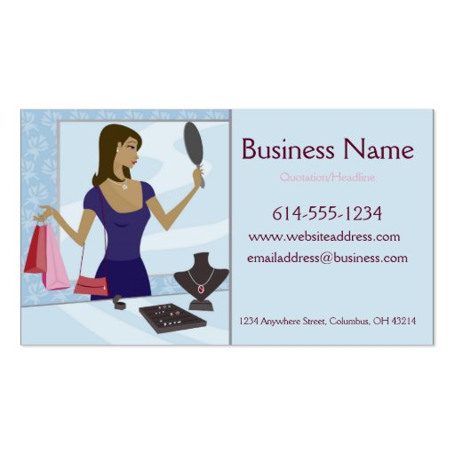Jewelry Shopper Business Cards
