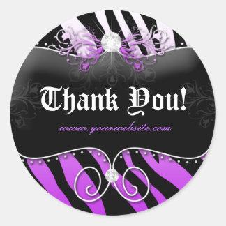 Jewelry Zebra Sticker Purple Thank You