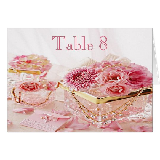Jewels, Flowers & Boxes Wedding Table Number Card