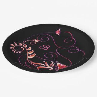 Jewels in Black 3 Paper Plate