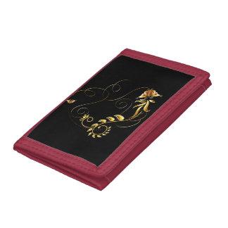Jewels in Black Tri-fold Wallet
