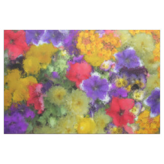 JEWELTONE WATERCOLOR FLORAL FABRIC