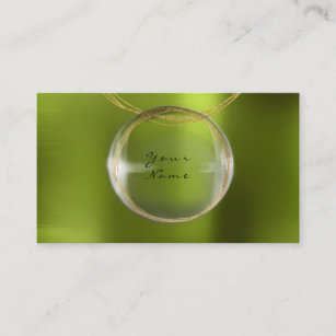 Shiny business cards business card printing zazzle ca jewely stylist gold glass ball lemon green metal business card reheart Image collections