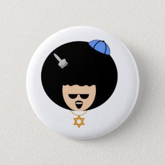 Jewfro 2 Inch Round Button