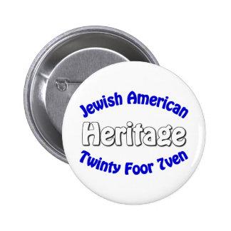 Jewish American Heritage 2 Inch Round Button