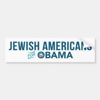 Jewish Americans For Barack Obama Bumper Sticker