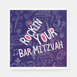 Jewish Bar Mitzvah Decorations-Napkins Disposable Napkins