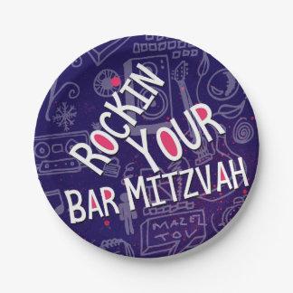 Jewish Bar Mitzvah Decorations-Paper Plates