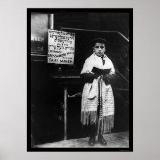 Jewish Boy at New Year Celebration 1911 Poster