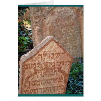 """""""Jewish Cemetary, Prague"""" Card"""