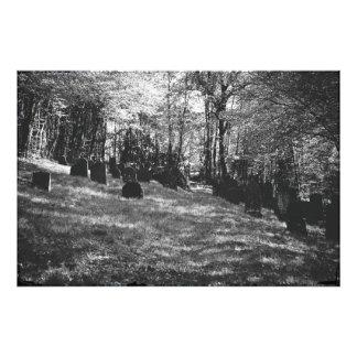Jewish cemetery photo print